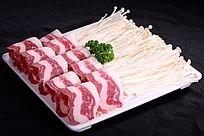 金针菇羊肉卷