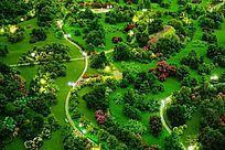绿产园林沙盘模型