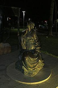 古代美女铜像