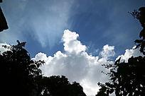 蓝天白云光芒