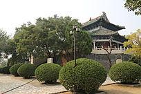 古代建筑伏羲台全景
