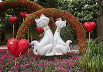公园卡通猫景观