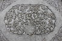 石刻花卉浮雕图片