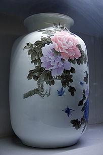 彩绘牡丹花瓶 (2)
