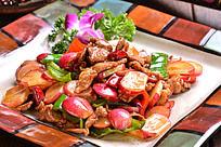 水萝卜炒肉
