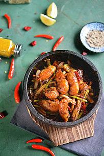 麻辣石锅虾