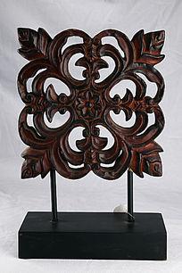 四角古典花纹工艺品摆件