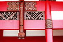 寺庙门廊装饰花纹