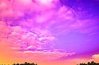 彩色的天空云层图片