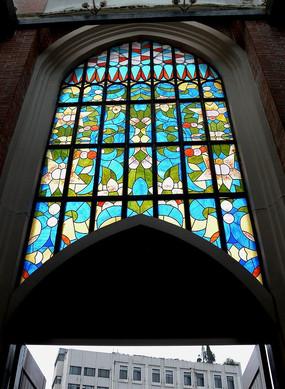 英式礼堂彩色玻璃窗