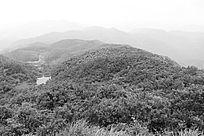 山水黑白装饰画