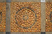 石子圆形花纹图案素材