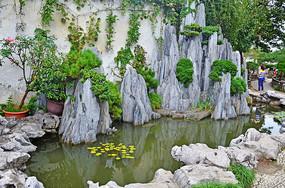 园艺景观石头摆件造型艺术图片