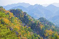 千山小黄山山脉与群山秋景