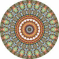 圆形数码印花花型