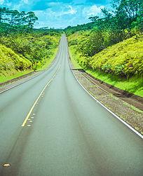帕劳北岛笔直的公路