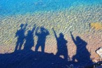 三亚海滩人物剪影青春