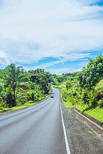 蜿蜒的北岛马路