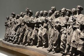雕塑民族团结