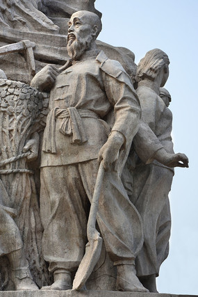 雕塑农民伯伯