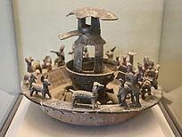 汉代釉陶水榭