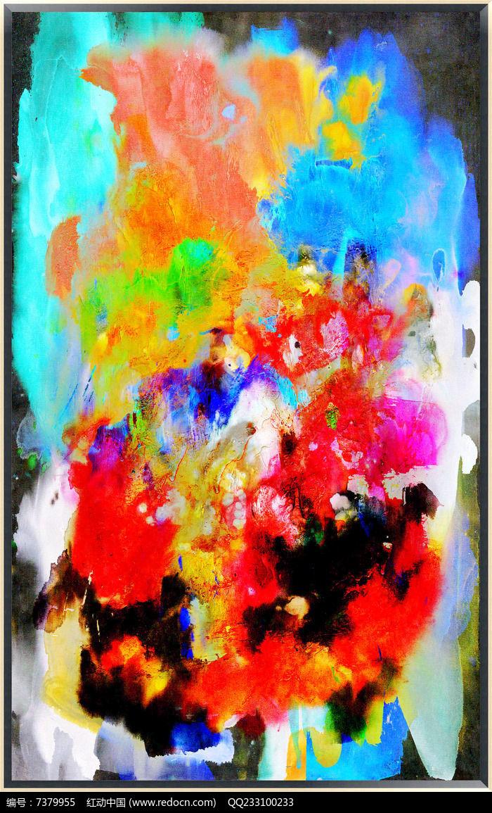 流彩抽象油画图片