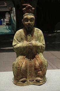 元代道士瓷像