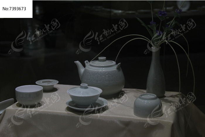 鲁青瓷日式茶餐具图片