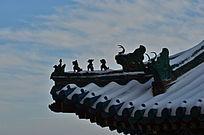佛香阁屋脊的五脊六兽