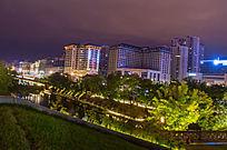 夜晚城市建筑