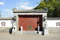 北京民居双狮门