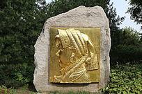 藏族少女头像雕塑