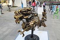 铜雕中国龙