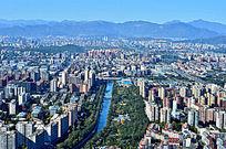 北京西山与城市建筑