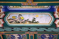 古建彩绘古代仕女图