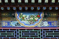 古建彩绘牡丹寿带