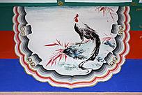 古建彩绘雄鸡图