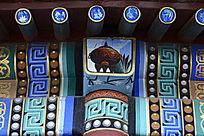 古建柱头彩绘
