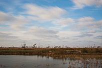 湿地油田湖泊