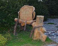 创意树藤雕刻座椅