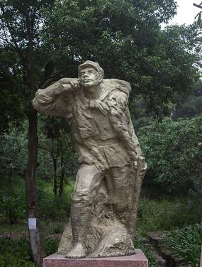 男战士雕像