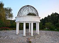 欧式雕塑金属雕花圆顶亭