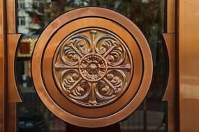 铜雕花纹图案拉手