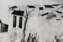 江南古村落墙画