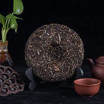中国风普洱茶饼摄影