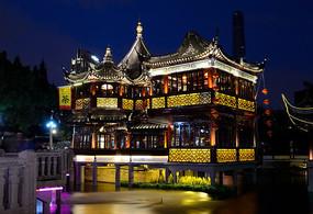 上海豫园古街夜景