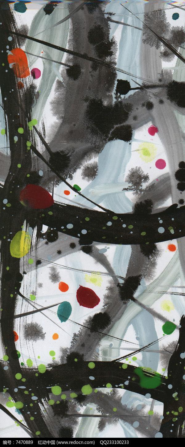 水墨抽象油画图片