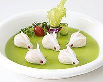 玉兔水晶饺