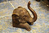 青铜大象手工雕塑