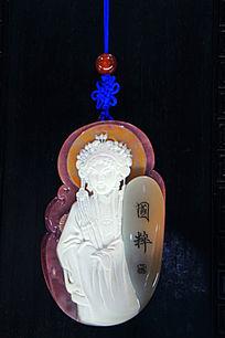玉雕中国古代四大美女王昭君雕像